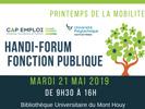 Dans le cadre du Printemps de la Mobilité : Handi'Forum à la BU Mont-Houy ce mardi 21 mai 2019