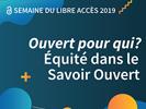 Semaine du libre accès 2019