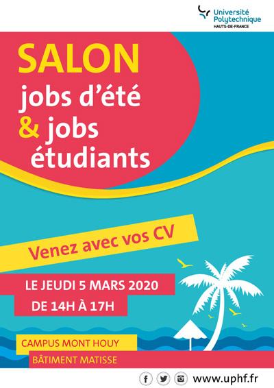 [SALON] Jobs été - Jobs étudiants: soyez prêts ! | Vous voulez préparer et faire relire vos CV ? Rendez-vous le 20 février de 12h à 16h sur le campus du Mont Houy à la Maison des Services à l'Etudiant
