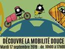 Journée promotion des modes de transport doux : venez tester une trottinette, un gyroroue, un vélo électrique… le jeudi 19 octobre 2017 au square Moriamez
