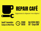 [Economie circulaire] Apprenez à réparer vos objets ! Repair'Café le 7 novembre, campus du Mont Houy