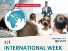 1st IAE International Week > L'IAE Valenciennes organise sa première semaine internationale pour ses 370 étudiants de master à partir du 1er février 2021.