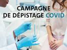 [COVID-19] Campagne de dépistage   Une première campagne de dépistage Covid-19 aura lieu mardi 15 septembre 2020 de 9h à 14h, Campus des Tertiales
